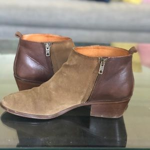 Madewell Suede/Leather Booties